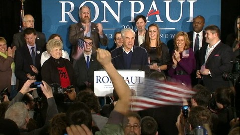 abc ron paul speech tk 120110 wblog Ron Paul Finishes Second in NH, Says I Didnt Know You Were Out There