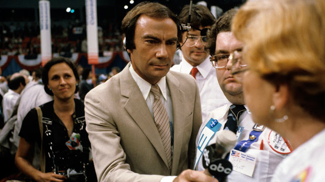 PHOTO: Sam Donaldson reports from the 1980 Democratic National Convention held in Madison Square Garden in New York City, Aug.11 to Aug, 14,1980.