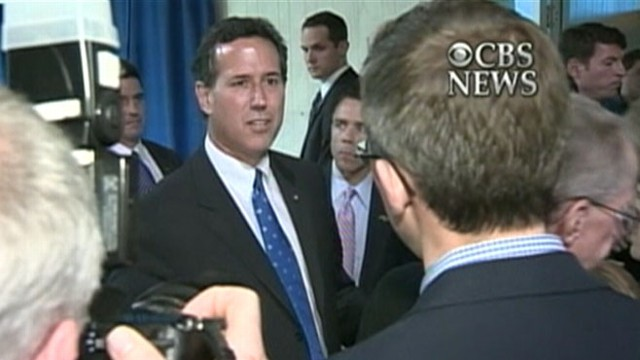 VIDEO: Rick Santorum accuses NY Times' Jeff Zeleny of distorting the truth.
