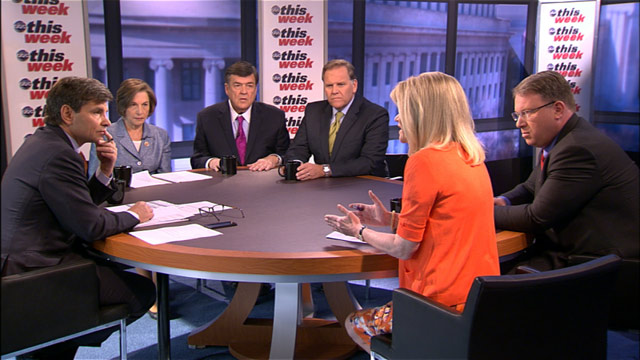 PHOTO: The This Week roundtable discusses the latest news from Syria and the Boston bombing investigation.
