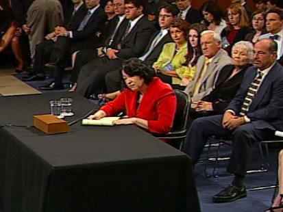 Video of Sen. Lindsey Graham asking Sonia Sotomayor if she has a temperament problem.