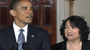 Photo: Sonia Sotomayor is Obamas Supreme Court Pick to Replace David Souter: Sotomayor To Become First Hispanic Supreme Court Justice if Confirmed.