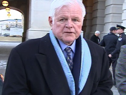 Video of Ted Kennedy arriving on Capitol Hill.