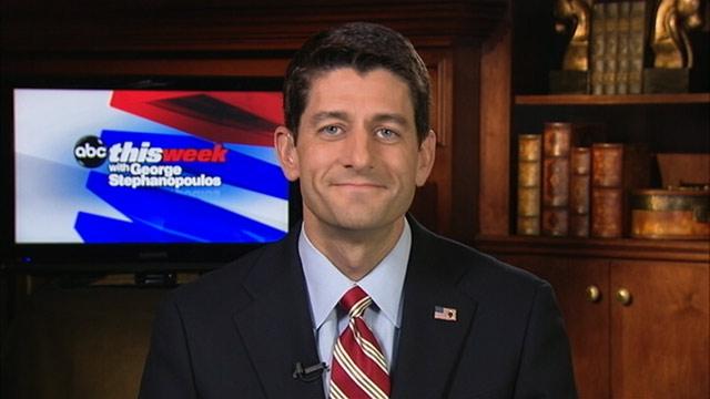 """PHOTO: Republican Vice Presidential Nominee Paul Ryan on """"This Week."""""""