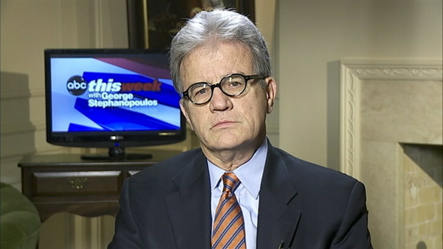 PHOTO: Finance Committee member Sen. Tom Coburn (R) Oklahoma on This Week