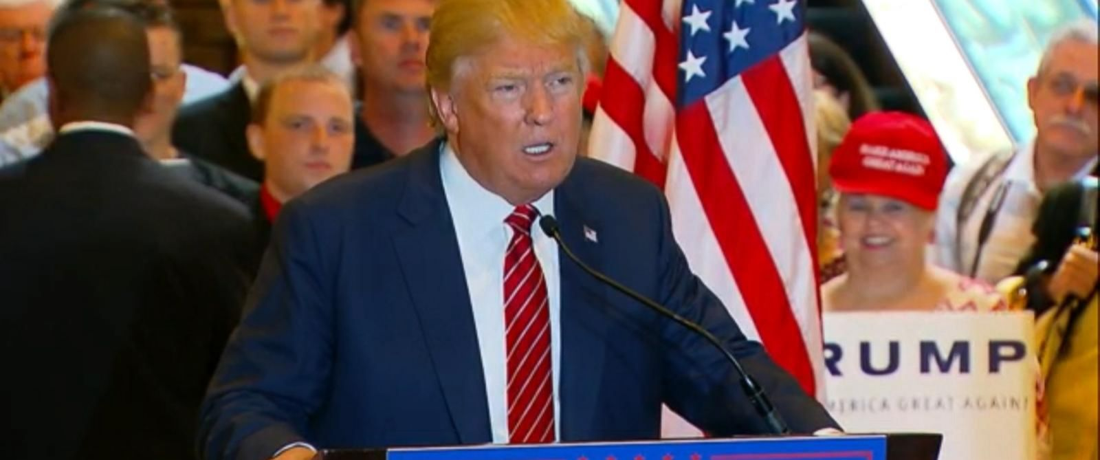 PHOTO: Donald Trump speaks at a press conference on Sept. 28, 2015.