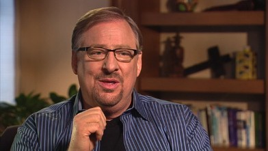 "PHOTO: Saddleback Church pastor Rick Warren is interviewed on ""This Week."""