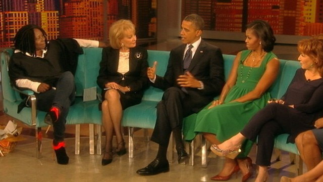 "VIDEO: The president appears on ""The View"" with Michelle Obama."
