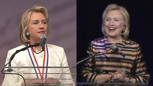 VIDEO: Hillary Clintons past speeches offer a hint at what we might hear if she runs for president.