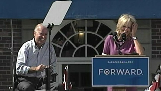 VIDEO: Vice presidents wife unintentionally draws laughs at Dartmouth College in New Hampshire.
