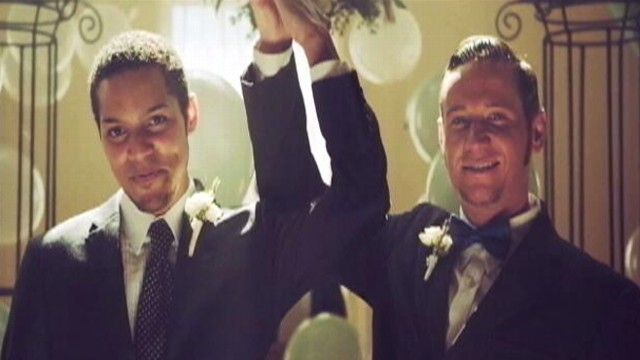 VIDEO: Gay marriage has been the subject of sitcoms, commercials and music for decades.