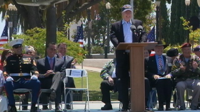 VIDEO: Memorial Day tribute in San Diego is interrupted by a protestor in the crowd.