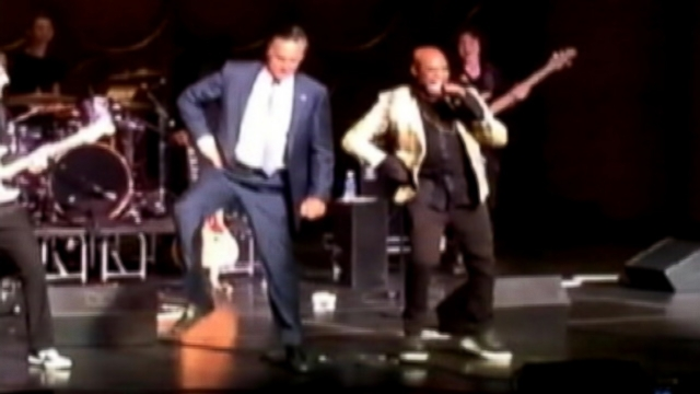VIDEO: Mitt Romney kicked up his heels at a Mormon church event in Maryland.