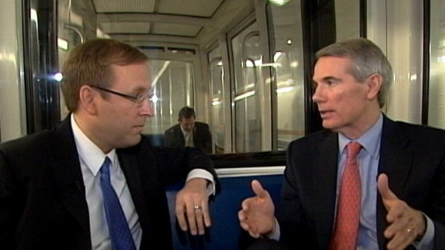 VIDEO: ABC News' Jon Karl rides the Capitol Subway with Sen. Rob Portman (R-OH).