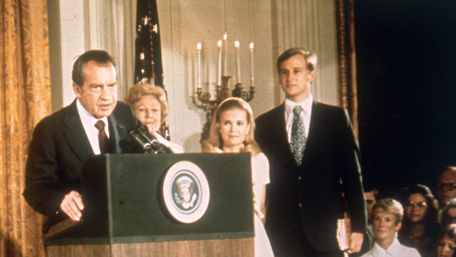 richard nixon and the notion of presidential power In september 1952, vice presidential candidate richard nixon was accused of taking money from a reelection fund in a live television address, nixon.