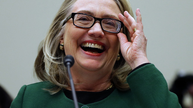 PHOTO: Secretary of State Hillary Rodham Clinton smiles during a lighter moment as she testifies on Capitol Hill on Jan. 23, 2013, before the House Committee on Foreign Affairs about the deadly September attack on the U.S. diplomatic mission in Benghazi,