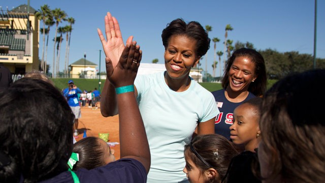 ap Michelle Obama Disney jt 120211 wg First Lady Wraps Lets Move Tour in Florida