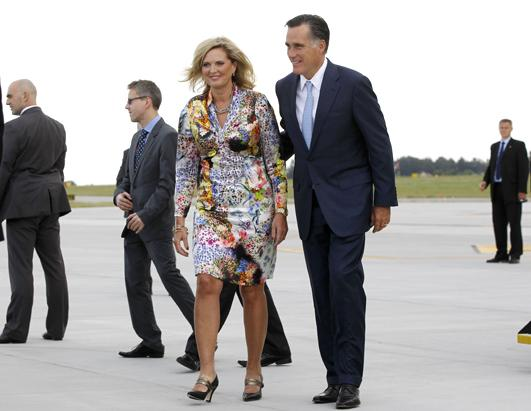 ann romney floral dress 