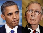 PHOTO: Barack Obama and Mitch McConnell