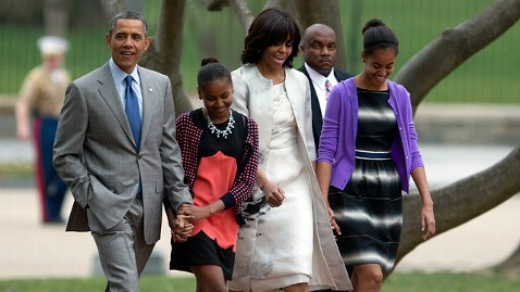 Obama Family Attends Easter Sunday Service