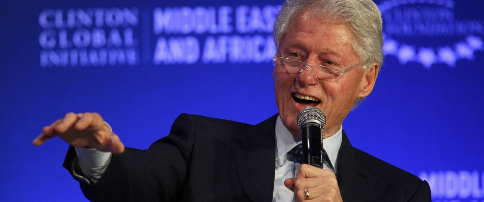PHOTO: Former U.S President Bill Clinton speaks during a plenary session at the Clinton Global Initiative Middle East & Africa meeting in Marrakech, Morocco, May 6, 2015.