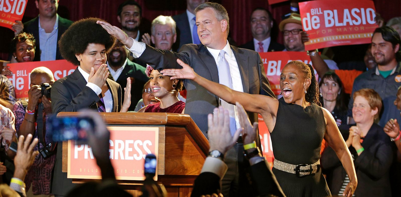 PHOTO: Bill, Chirlane and Dante De Blasio