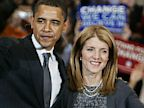 PHOTO: Caroline Kennedy and Barack Obama