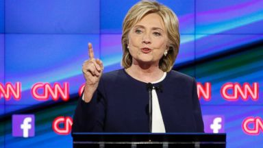 PHOTO: Hillary Rodham Clinton speaks during the CNN Democratic presidential debate, Oct. 13, 2015, in Las Vegas.