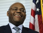 "PHOTO: William ""Mo"" Cowan smiles during a news conference where he was named interim U.S. Senator for the seat vacated by U.S. Sen. John Kerry, D-Mass., at the Statehouse in Boston on Jan. 30, 2013."