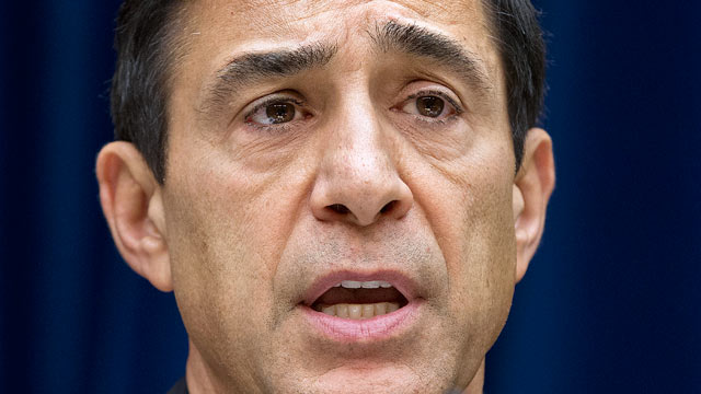 PHOTO: Rep. Darrell Issa, R-Calif., chairman of the House Oversight and Government Reform Committee, speaks on Capitol Hill in Washington, June 20, 2012.