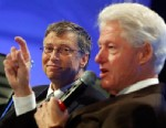 PHOTO: Former President Bill Clinton and Microsoft founder and philanthropist Bill Gates, speak about debt at the 2013 Fiscal Summit in Washington, May 7, 2013.