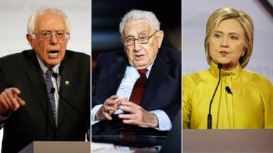 PHOTO: Sen. Bernie Sanders | Henry Kissinger | Hillary Clinton