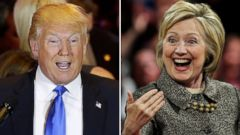 PHOTO: Donald Trump speaks in New York and Hillary Clinton speaks in Philadelphia on April 26, 2016.