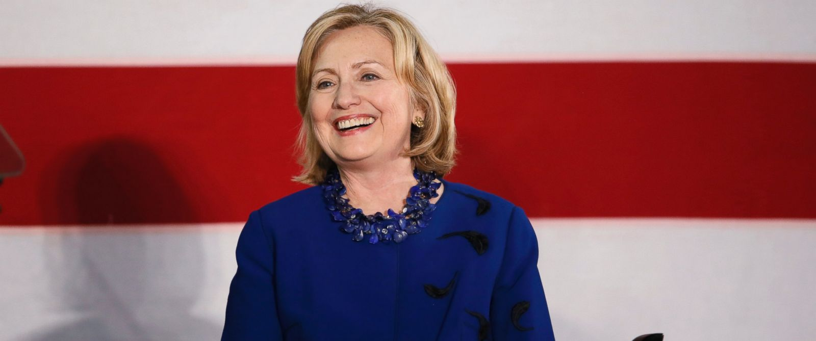 PHOTO: Former U.S. Secretary of State Hillary Rodham Clinton speaks at a rally for Senate candidate Gary Peters and gubernatorial candidate Mark Schauer at Oakland University in Auburn Hills, Mich., Oct. 16, 2014.