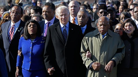 ap joe biden voting rights march jt 130303 wblog Biden Defends Voting Rights Act Provision in Selma, Alabama