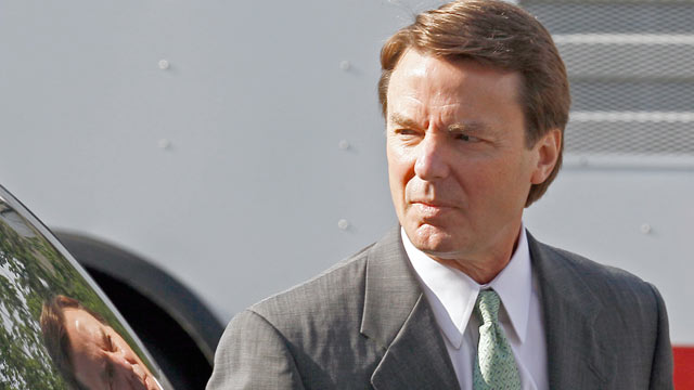 PHOTO: Former presidential candidate and Sen. John Edwards arrives at a federal courthouse in Greensboro, N.C., May 17, 2012.