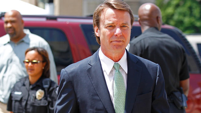 PHOTO: John Edwards arrives at a federal courthouse during the ninth day of jury deliberations in his trial on charges of campaign corruption in Greensboro, N.C., May 31, 2012.