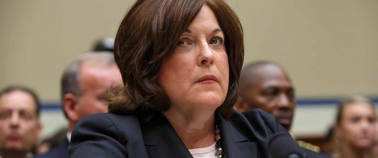 PHOTO: Secret Service Director Julia Pierson listens on Capitol Hill in Washington, Sept. 30, 2014, as she testifies before the House Oversight Committee as it examines details surrounding a security breach at the White House.