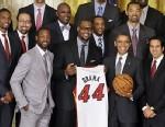 PHOTO: Barack Obama and Miami Heat