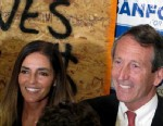 PHOTO: Maria Belen Chapur and former South Carolina Gov. Mark Sanford pose for a picture in Mount Pleasant, S.C., on April 2, 2013, after Sanford won the GOP nomination for the U.S. House seat he once held.