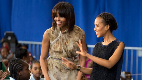 ap michelle obama kerry washington mi 130524 wblog Michelle Obama Freeze Dances, Praises Kerry Washington at D.C. School
