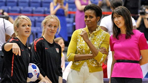 ap michelle obama samantha cameron ll 120313 wblog Michelle Obama Will Lead Delegation At 2012 Olympics