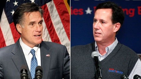 ap mitt romney rick santorum nt 120221 wblog Are Republican Hopefuls Swinging Too Far Right?