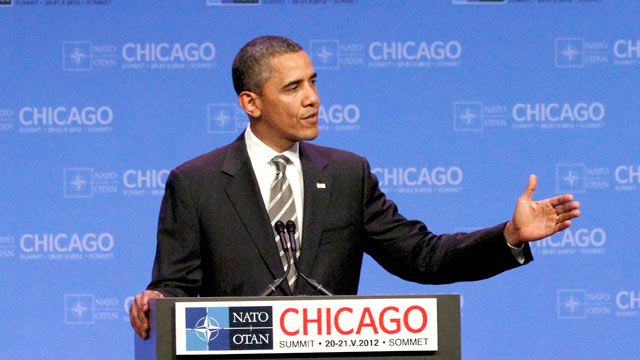 PHOTO: President Barack Obama speaks at a news conference at the NATO Summit in Chicago, May 21, 2012.