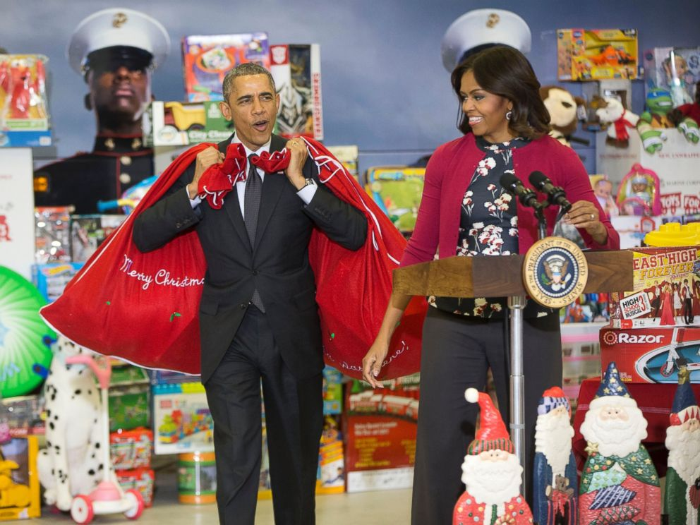 Toys For Tots Campaign : Obama i m the big elf like will ferrell abc news
