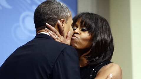 ap obamas 130120 wblog Obama Calls First Ladys Bangs Most Significant Event of Inaugural Weekend
