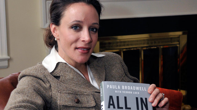 """PHOTO: Paula Broadwell, author of the David Petraeus biography """"All In,"""" poses for photos in Charlotte, N.C., Jan. 15, 2012."""