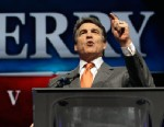 PHOTO: Rick Perry speaks during the Texas Republican Convention in Fort Worth, Texas on June 7, 2012.