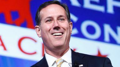 PHOTO: Former Senator Rick Santorum speaks at the Southern Republican Leadership Conference in Oklahoma City, May 21, 2015.