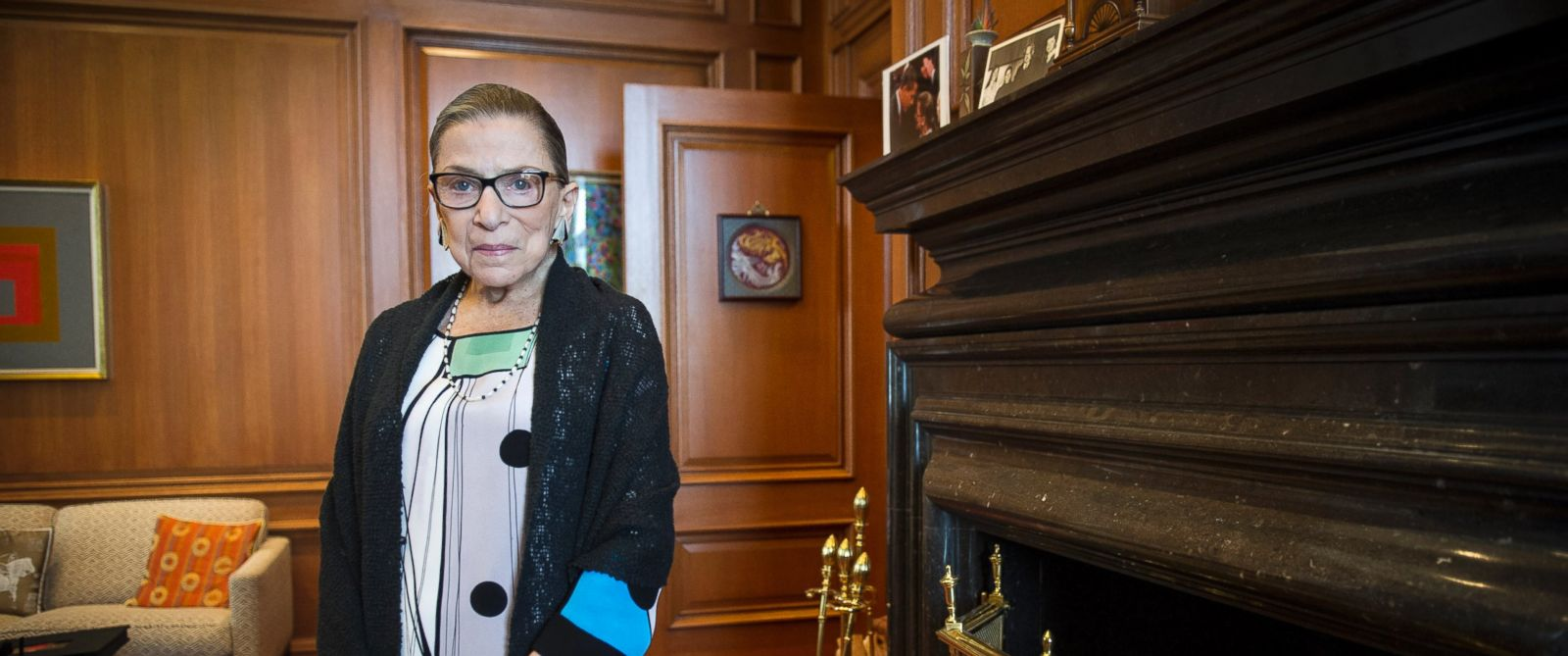PHOTO: Associate Justice Ruth Bader Ginsburg in her Supreme Court chambers in Washington, July 31, 2014.